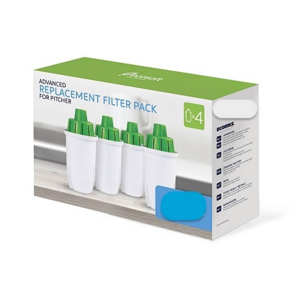 Sada 4 náhradních filtračních kazet pro konvici WATEX Blue