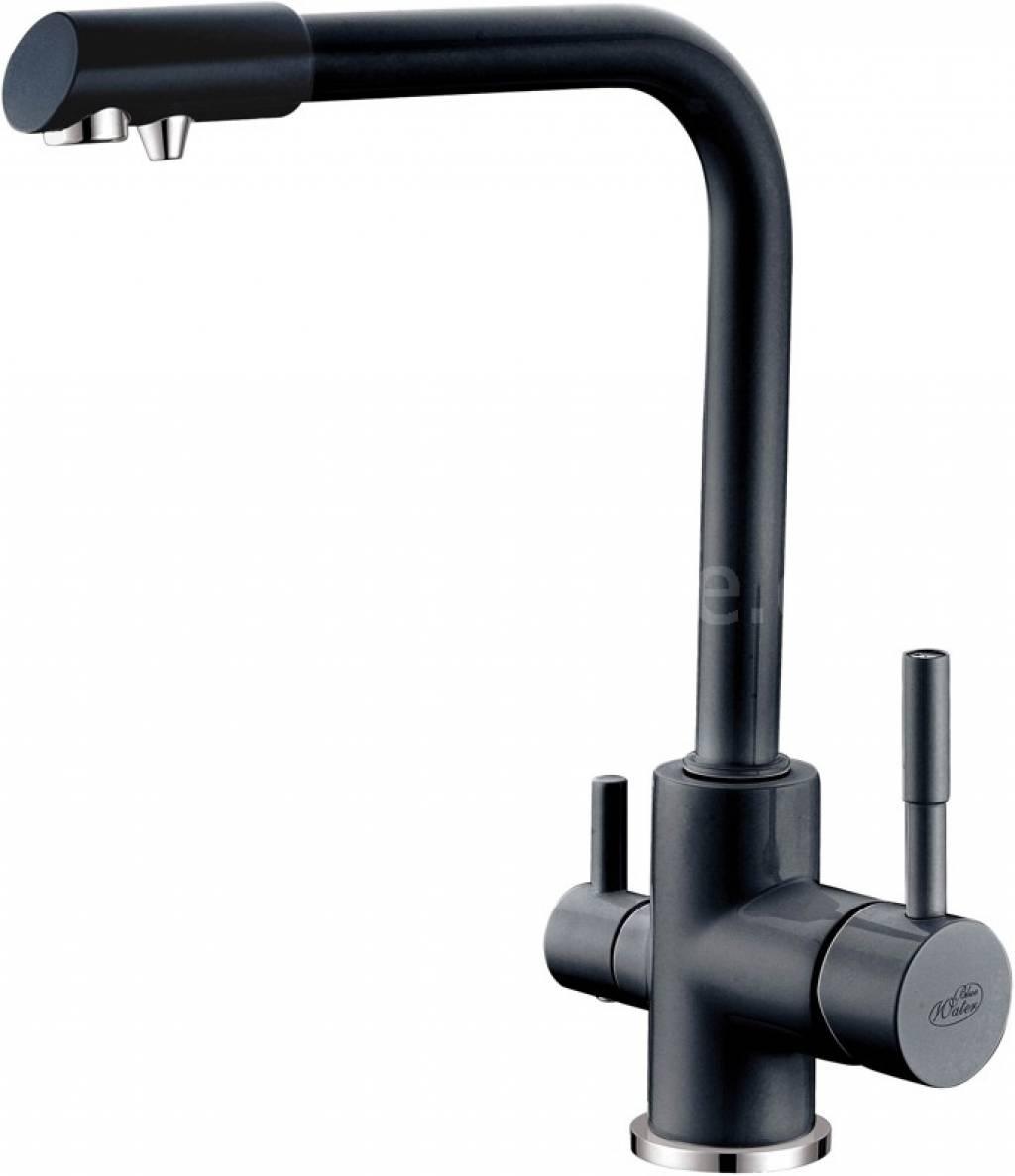Blue Water AMANDA černá lesklá trojcestná vodovodní baterie